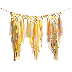 Triple Sari Carnival Wall Hanging Handcrafted in India