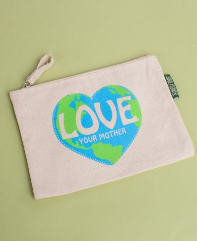 Love Your Mother Large Zipper Pouch