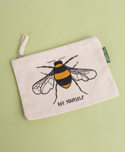 Bee Yourself Large Zipper Pouch