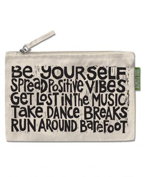 Let Your Soul Flower Manifesto Large Zipper Pouch