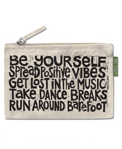 Manifesto Large Zipper Pouch