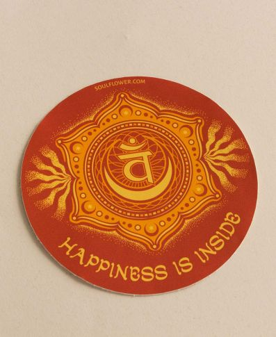 Happiness is Inside Chakra Sticker