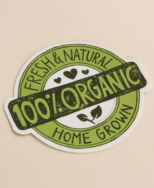 100% Organic Badge Sticker