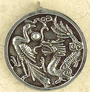 Dragon & Phoenix ~ Pewter Necklace ~ Siddhartha - The Buddhist Collection