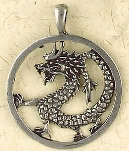 Chinese Dragon ~ Pewter Necklace ~ Siddhartha - The Buddhist Collection