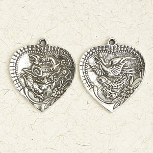 Dragon & Phoenix (double-sided) ~ Pewter Necklace ~ Siddhartha - The Buddhist Collection