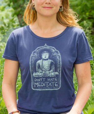 Don't Hate Meditate Organic Classic T-Shirt