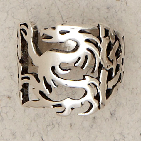 Celtic Dragon Sterling Silver Band