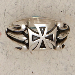 Templar Cross Sterling Silver Band