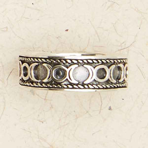 Triple Moon Band Silver Ring