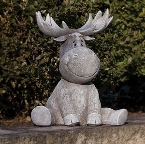 Friendly Moose Pudgy Pals Garden Statue