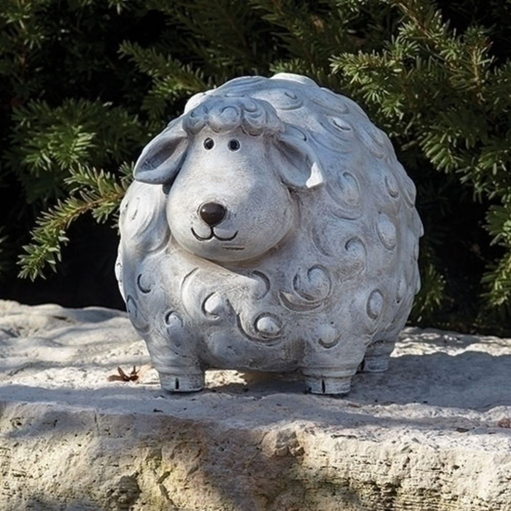 Friendly Sheep Pudgy Pals Garden Statue