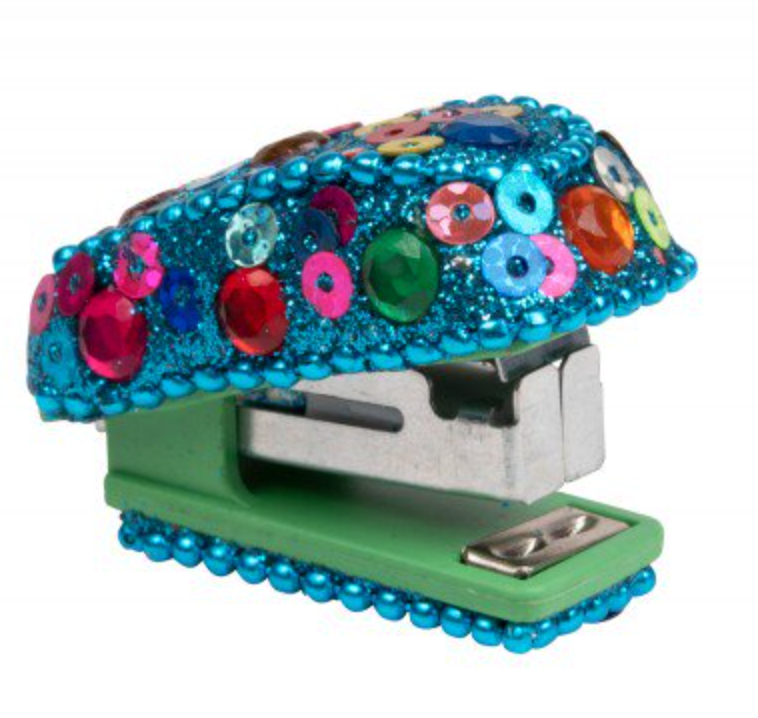 Aqua Sparkling Sequin Stapler Handcrafted in India