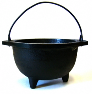 "Cast Iron Cauldron 6""D"