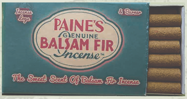 50 Balsam Incense Logs and Holder