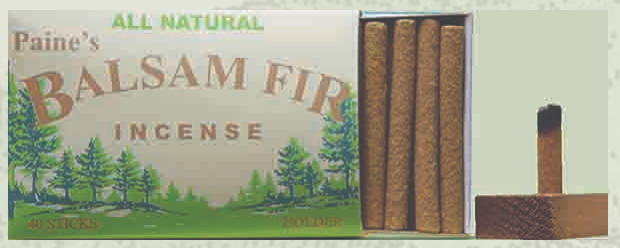 Balsam Fir Incense Logs and Holder All Natural