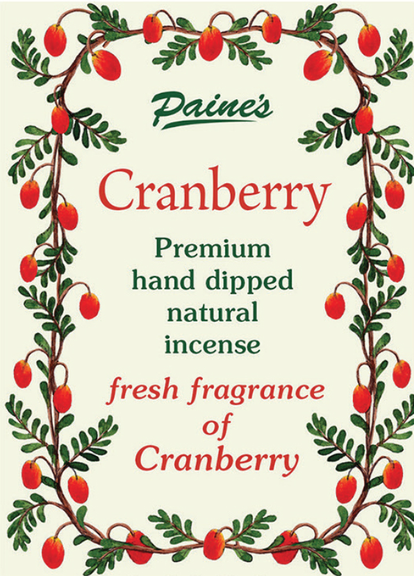 Cranberry Scented Long Stick Incense