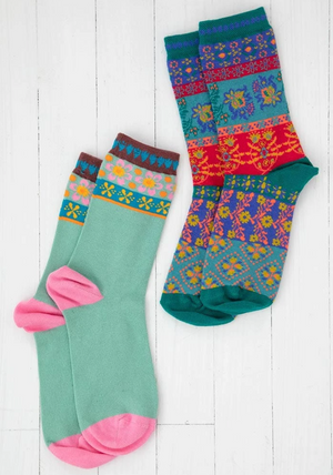 Festive Patterned Socks Set