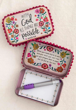 With God All Things Are Possible ~ Prayer Box