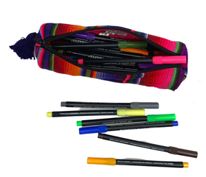 Hacienda Multicolor Sarape Pencil Case - Guatemala