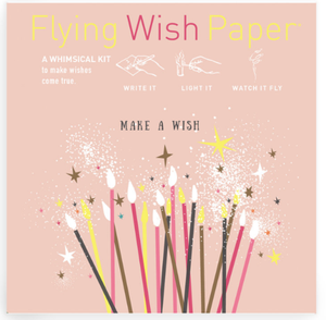 MAKE A WISH Mini Flying Wish Paper Kit