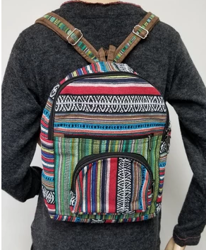 Gheri Multi-color Striped Backpack