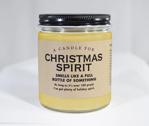 A Candle for Christmas Spirit ~ Smells Like a Full Bottle of Something