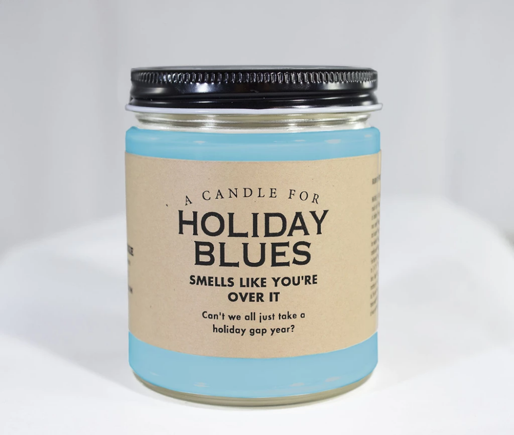 A Candle for Holiday Blues ~ Smells Like You're Over It