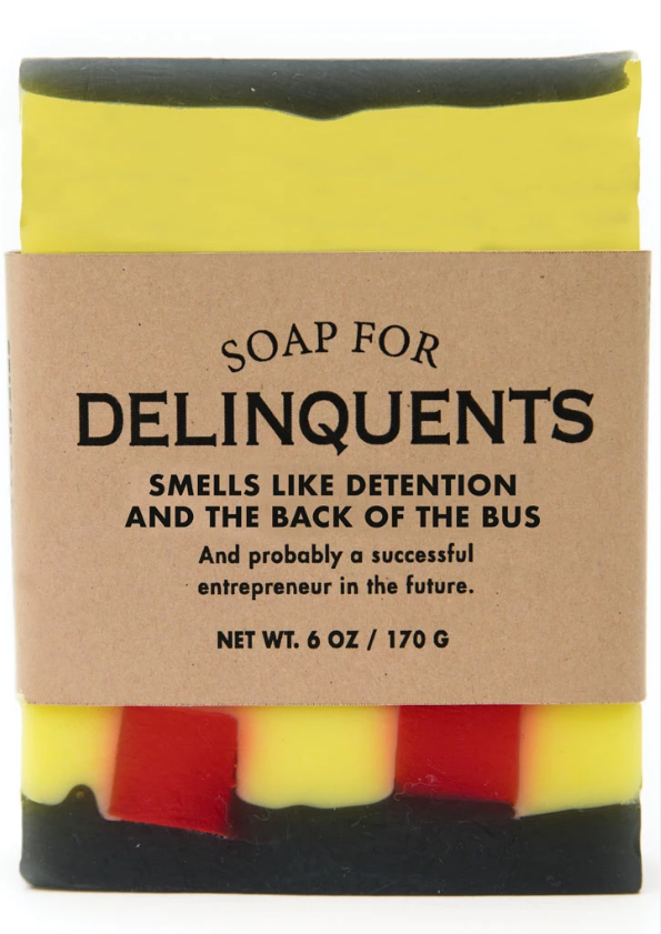 Soap for Delinquents ~ Smells Like Detention and the Back of the Bus