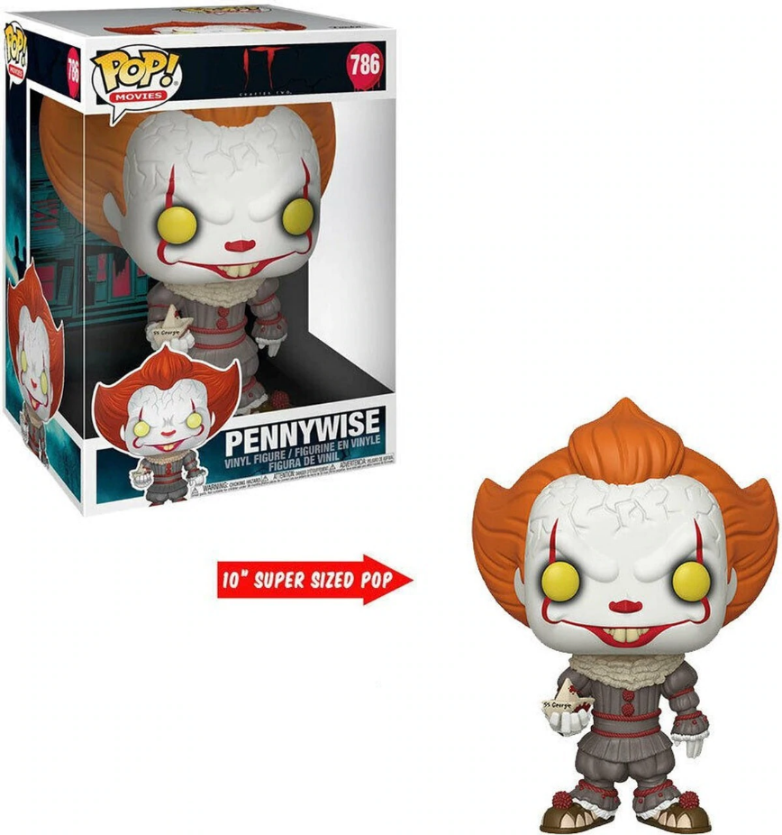 "Funko Pop Vinyl Figurine Pennywise 10"" IT Chapter 2"