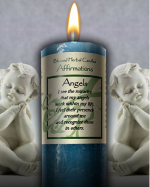 Angel Affirmation ~ Blessed Herbal Candle