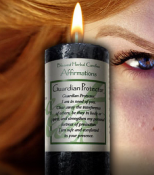 Guardian Protector Affirmation ~ Blessed Herbal Candle