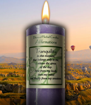Tranquility Affirmation ~ Blessed Herbal Candle