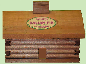 Balsam Fir Incense with Large Cabin Burner Gift Set