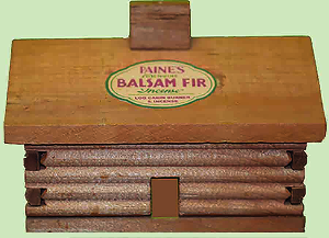 Balsam Fir Incense with Small Cabin Burner Gift Set