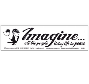 Imagine all the People Living Life in Peace Bumper Sticker