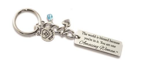 Amazing Woman Key Chain with Charms