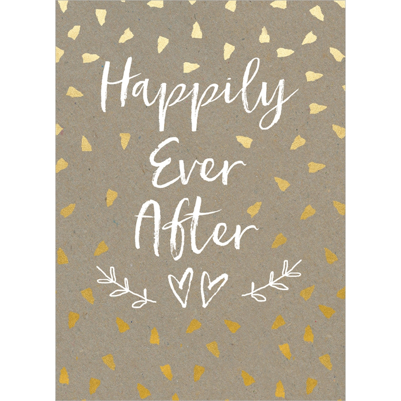 Happily Ever After Congratulations Wedding Day Card