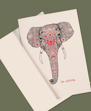 Be Strong Elephant Greeting Card