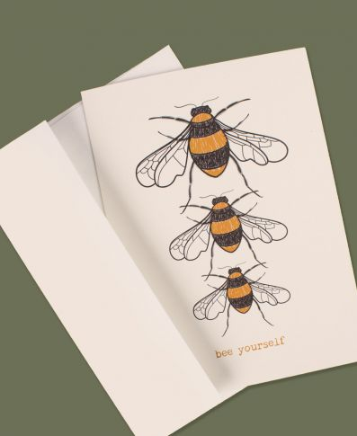 Bee Yourself Greeting Card