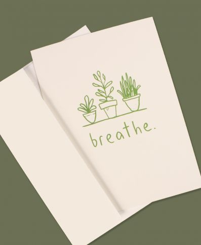 Breathe Succulent Plants Greeting Card