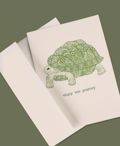 Enjoy the Journey Turtle Greeting Card
