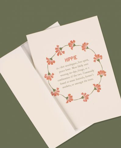 Hippie Definition Greeting Card