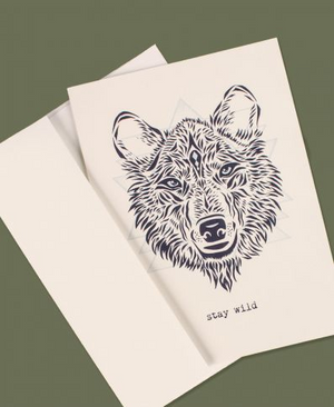 Stay Wild Wolf Greeting Card