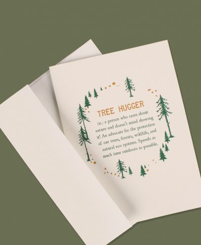 Tree Hugger Definition Greeting Card