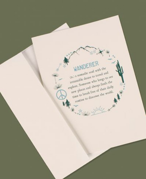 Wanderer Definition Greeting Card