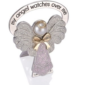 My Angel Watches Over Me ~ Pink Bedside Angel