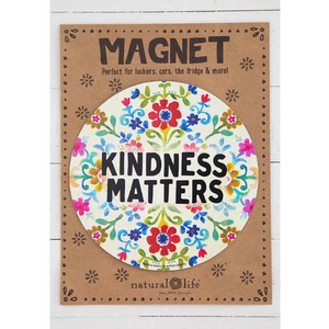 Kindness Matters Cream Car Magnet