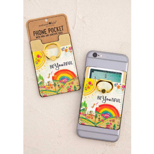 BeYOUtiful Unicorn Rainbow Phone Pocket Ring