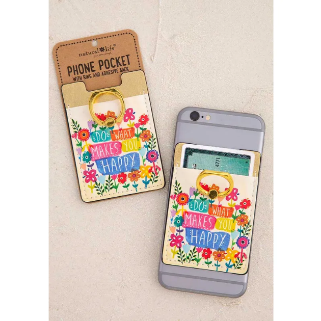 Do What Makes You Happy Phone Pocket Ring